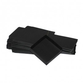 Lot 50 black cardboard boxes Modular : 130x130x35mm