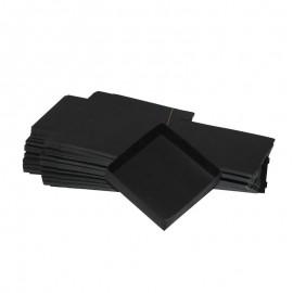 Lotto 50 scatole di cartone nere modulare : 130x130x35mm