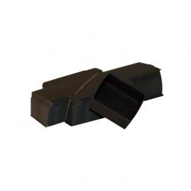 Lotto 50 scatole di cartone nere modulare : 65x63x25mm