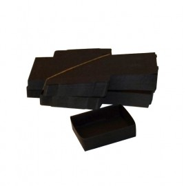 Lot 50 black cardboard boxes Modular : 79x51x25mm