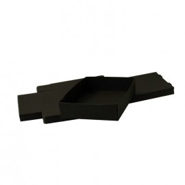 Lot 50 black cardboard boxes Modular : 98x87x30mm