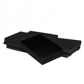 Lotto 50 scatole di cartone nere modulare : 130x99x30mm