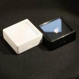 Boites de gemmologie 30x30x17 blanche noire protection pierre taillée
