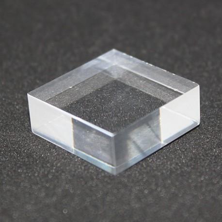 Lot 10 pedestals + 1 free 25x25x10mm display case showcase