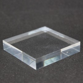 Lot 10 pedestals Plexis Cristal + 1 free 50x50x10mm display showcase