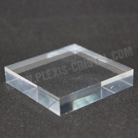 Lot 10 pedestal plexiglass + 1 free 50x50x10mm display case showcase