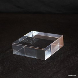 Lot 10 pedestals transparent + 1 free 70x70x20mm display showcase