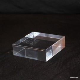 Lot 10 pedestals transparent + 1 free 70x70x20mm display showcase