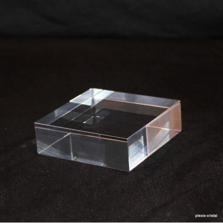 Lot 10 pedestal transparent + 1 free 70x70x20mm display showcase