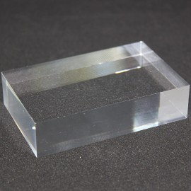 Lot 10 pedestals transparent + 1 free 80x50x20mm display case showcase