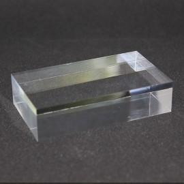 Lote 10 pedestales de plástico + 1 vitrina de exhibición de 80x40x20mm gratis