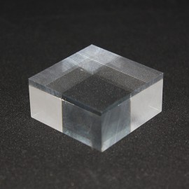 Lot 10 pedestals acrylic + 1 free 40x40x20mm display case showcase