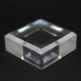 Lot 10 socles acrylique biseautés + 1 gratuit 50x50x20mm  supports présentoir
