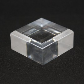 Lot 10 Acrylic displayl beveled edge + 1 free 40x40x20mm