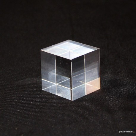 Set 10 Plexis Cristal bases + 1 free 30x30x30mm acrylic supports