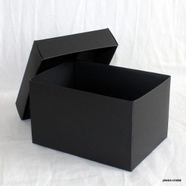 Black cardboard boxe Modular with top : 90x130x80mm