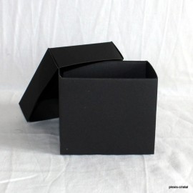 Black cardboard boxe Modular with top : 80x90x70mm
