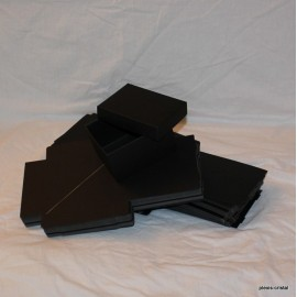 Lot 25 black cardboard boxes Modular with top : 80x90x70mm