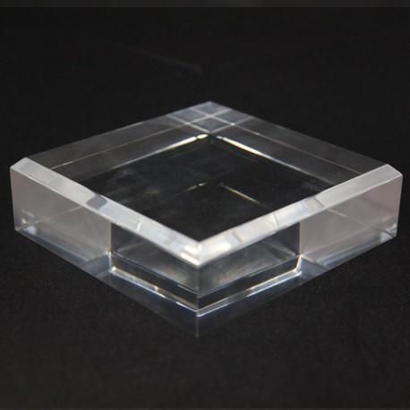 Smussato base 120x120x30mm acrilica angoli mezzi per minerali