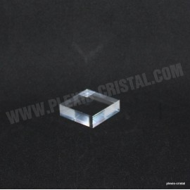 Crude acrylic base 40x40x12mm display for minerals