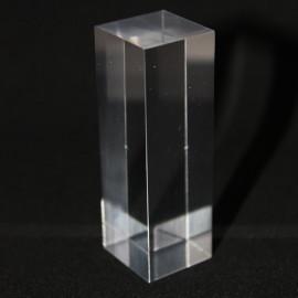 Présentoir acrylique prisme 60x20x20mm socles pour minéraux