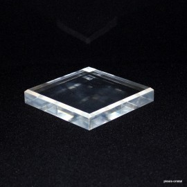 Crude acrylic display base 70x70x25mm