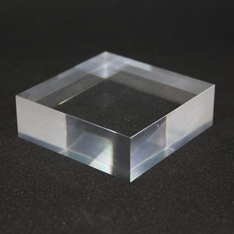 Crude acrylic supports 60x60x20mm base mineral collection