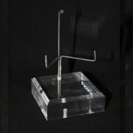 Socle angle biseauté support métal modulable 80x80x20mm