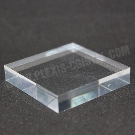Crude mezzi 60x60x10mm base di visualizzazione acrilico per i minerali