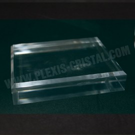 Acrylic base 10 + 1 free 80x120x30mm bevelled angles media for minerals