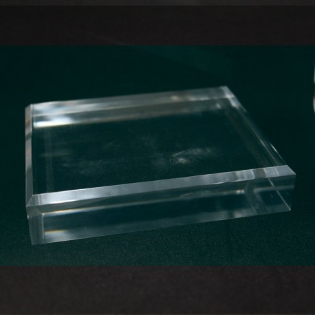 Acrylic base 80x120x30mm bevelled angles media for minerals
