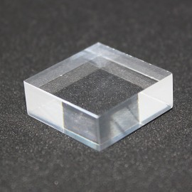 Support Plexis Cristal base 25x25x15mm mineralogy display
