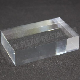 Crude acrylic base 100x60x20mm display for minerals