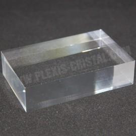 Pantalla 100x60x20mm crudo acrílico base para minerales