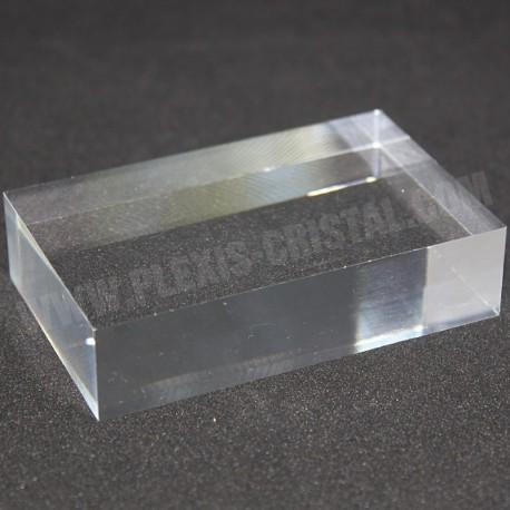 Socle acrylique brut 100x60x20mm présentoir pour minéraux