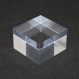 Lotto 10 piedistalli in acrilico + 1 espositore libero 25x25x20mm