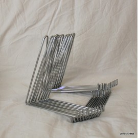 Lot 10 pieces : Metal chrome steel bridge supports for collection 500x500 mm