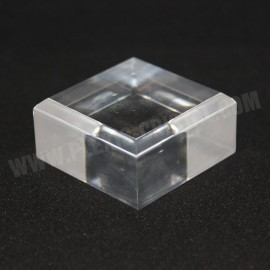 Lot 10 +1 , base acrilica, angoli smussati 45x45x20mm