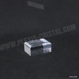 Acrylic base bevelled angles 30x40x15mm 10 + 1 free