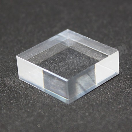 Crude acrylic base 25x25x15mm display for minerals Plexis Cristal