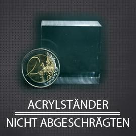 Acryl Displayständer und Mineralsammlung nicht abgeschrägt