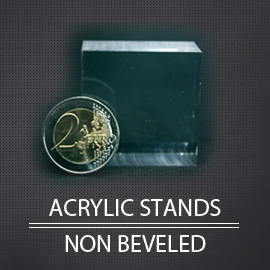 Acrylic display stands and non beveled for minerals collection