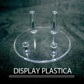 collezione di minerali del display in plastica