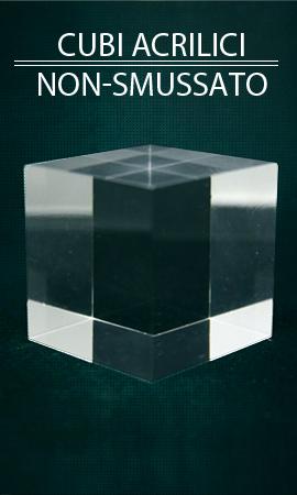 Vetrina vetrina Plexis Cristal cubo non smussato, supporto minerale acrilico, basi in plastica