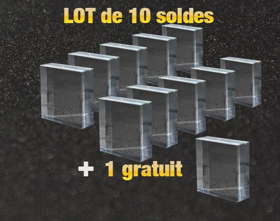 lots de socles présentoir plexis acrylique pour vitrine minéraux et produits en magasin
